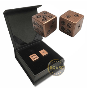 Copper dice viking design