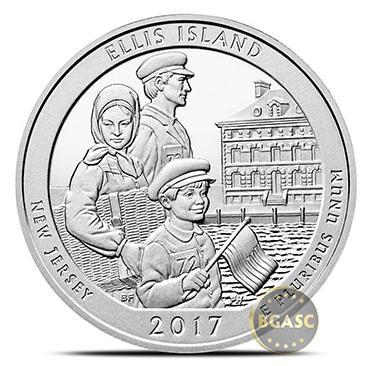 Ellis island ATB coin front bgasc