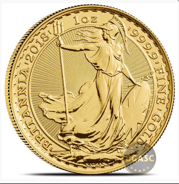 Gold Britannia back