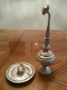 Indian rosewater sprayer perfume holder