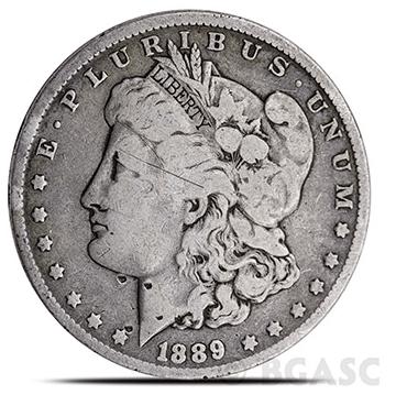 Morgan Silver Dollar Cull front