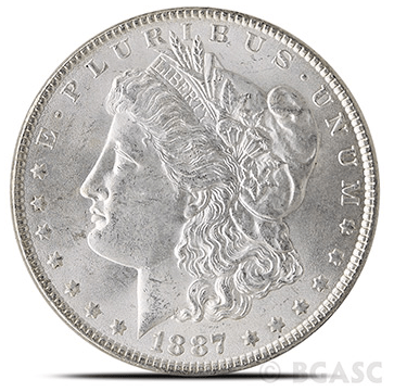 Morgan Silver Dollar Uncirculated 1887