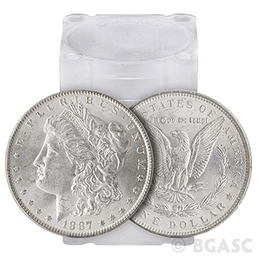 Morgan Silver Dollars Tube