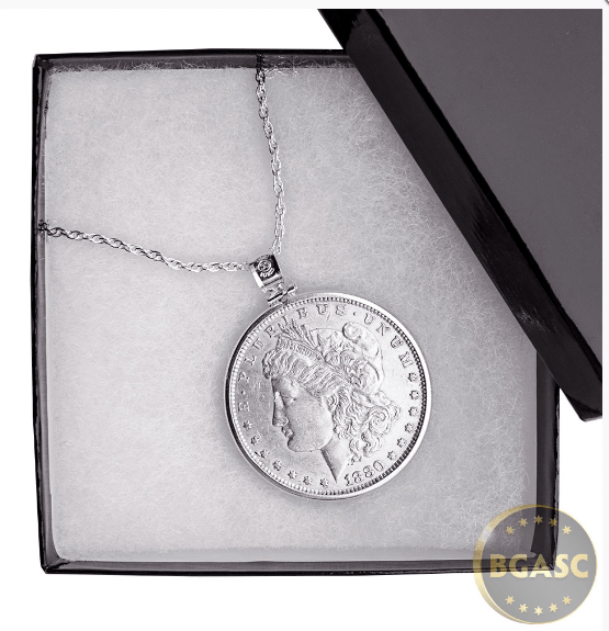 Morgan silver dollar necklace