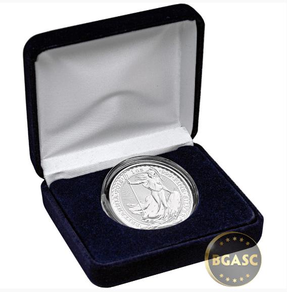 Silver Britannia in case