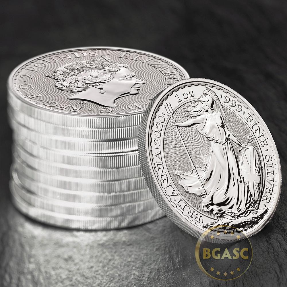 British Royal Mint tube fits 25 Britannia coins or 10 Queen/'s Beast ONE