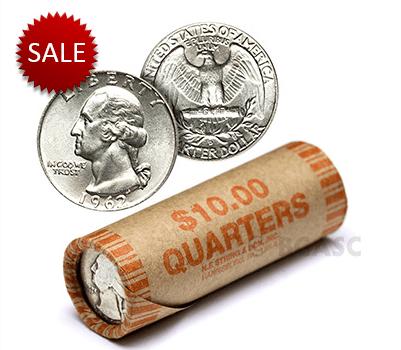 Silver quarter rolls