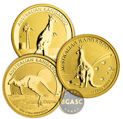 bgasc 1.10 ounce gold kangaroo