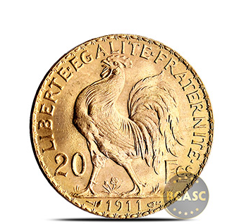 french gold rooster coin bgasc