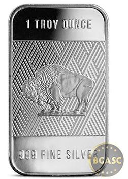 one ounce republic metals silver Buffalo bar