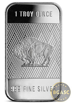 one ounce republic metals silver Buffalo bar