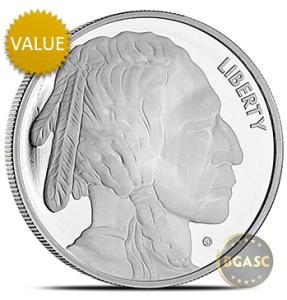 One ounce Silver Buffalo Round