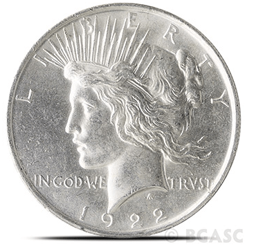 uncirculated Peace dollar