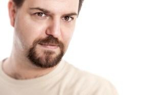 man with circle beard