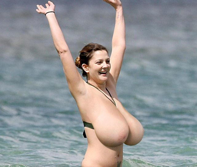 The Famous Actress Drew Barrymore Gets Treated With Espectacular Huge Boobs Enjoy