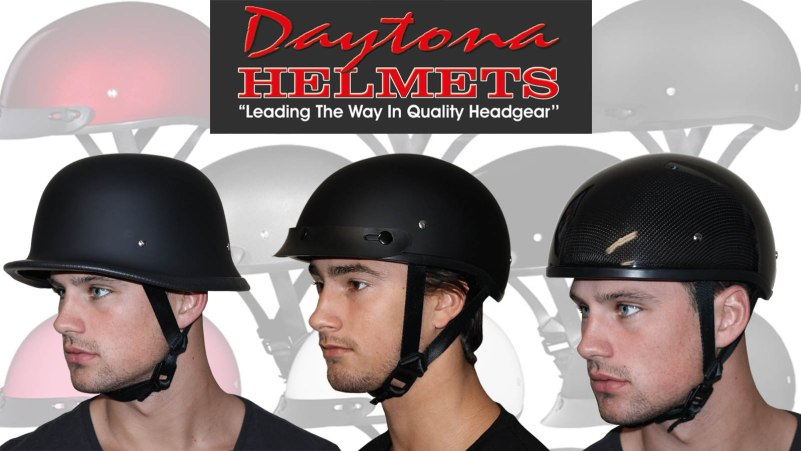 Daytona Helmets Half Shell Skull Cap, German, Polo, DOT Certified Helmets