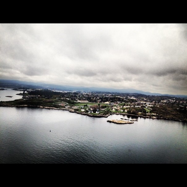 Just landed in #Victoria BC! My first helicopter trip with @Helijet was fun! - from Instagram