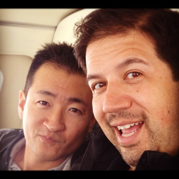 I & the boo boo boy @jminter on the way back home from #victoria. Thanks for the photo @br_webb ;D - from Instagram