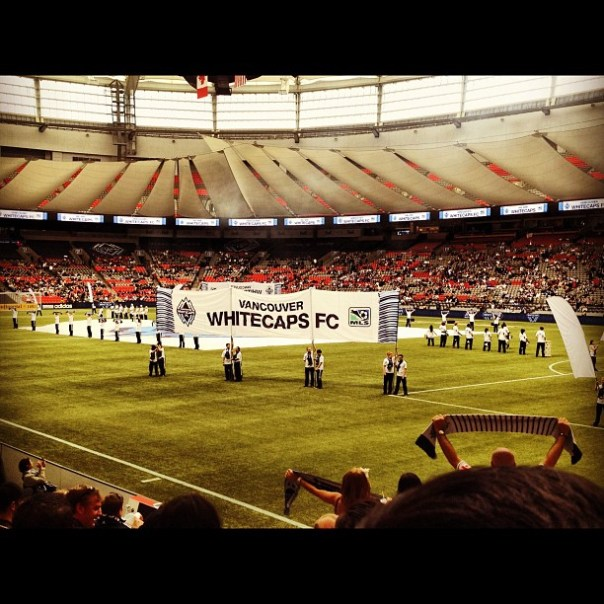Here I come again! @Whitecapsfc vs. SJ #earthquakes #vancouver - from Instagram