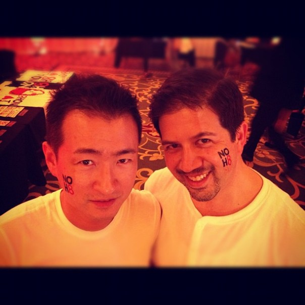 This is a bit better! Pre @noh8campaign photo shoot w/ @jminter - from Instagram