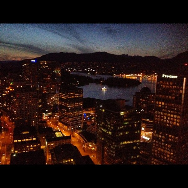 Good evening Coal Harbour! #downtown #vancouver - from Instagram