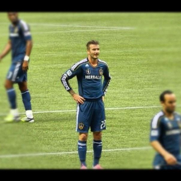 David Beckham! #whitecapsfc vs. #lagalaxy - from Instagram