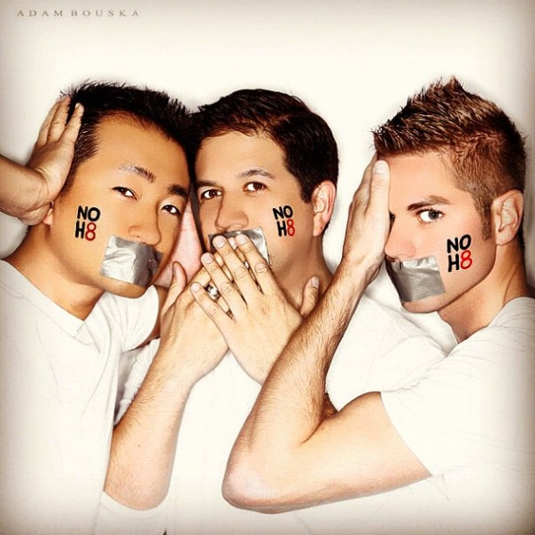 #NOH8 open photo shoot w/ @jminter @br_webb #Vancouver @NOH8Campaign - from Instagram