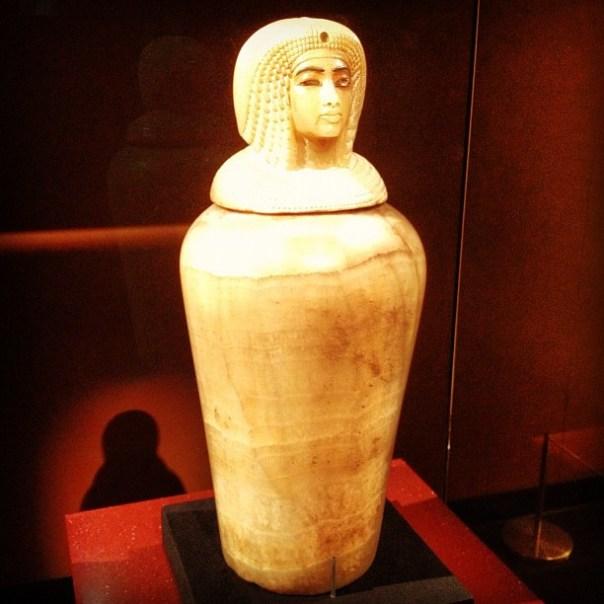 Canonic Jar of Kiya. #Thebes, Valley of the kings, #Egypt #kingtut #2daysinseattle - from Instagram