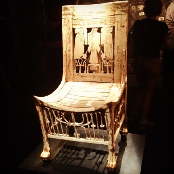 #Tutankhamun's spooky chair. #kingtut #2daysinseattle - from Instagram