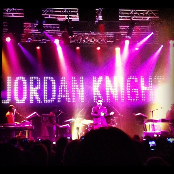 Here comes @JordanKnight! @VenueLive - from Instagram
