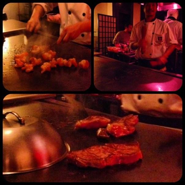 Tiger Prawns + Hibachi Steak + Chef's special show - from Instagram