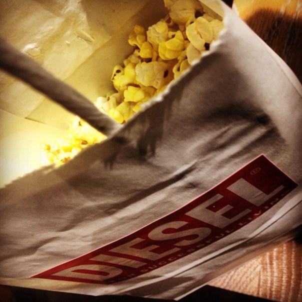 #Diesel #popcorn tastes better! @TheHudsonsBayCo #guysnightoutvan - from Instagram