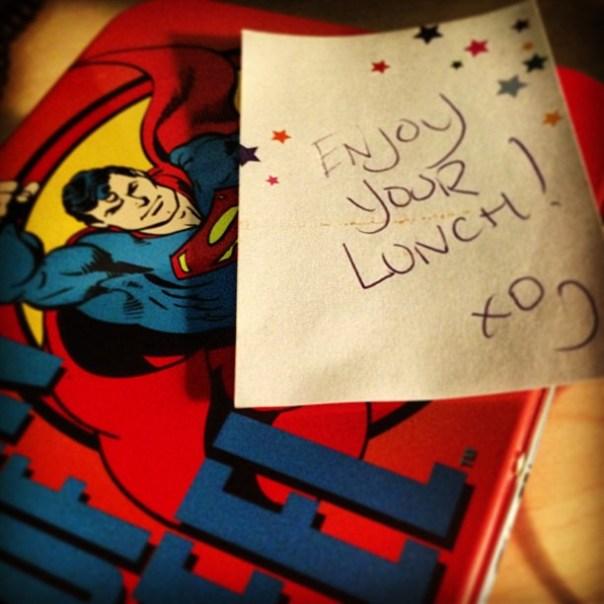 Aww my lovely superman lunch box! - from Instagram