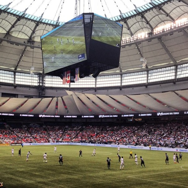 My 4th event of the day @BCPlace #LA #Galaxy vs. #Vancouver  #WhitecapsFC - from Instagram