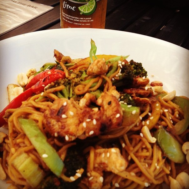 Bud light lime + Kung Pao chicken is my breakfast today! ;D - from Instagram