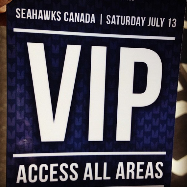 I am so important! #Tailgate at the village party @seahawkscanada / Thanks @jminter! - from Instagram