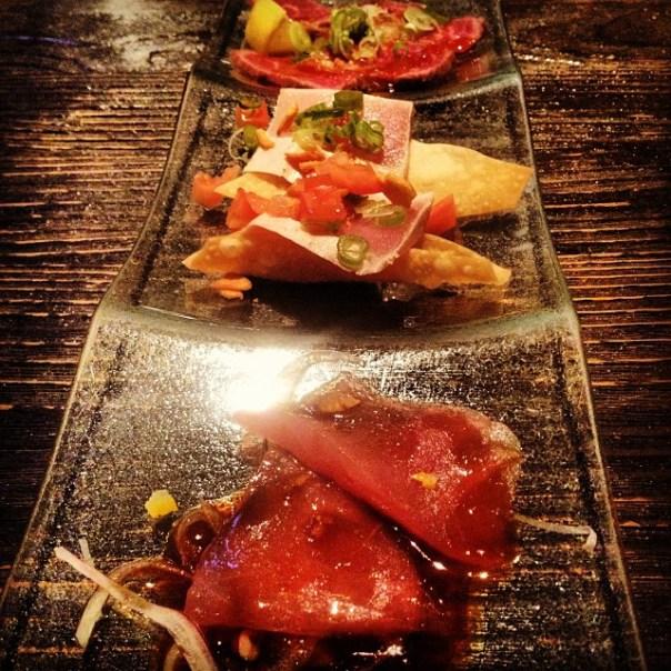 First course of the night: #NegiToro, #Beef #Tataki, #Tuna #Carpaccio - from Instagram