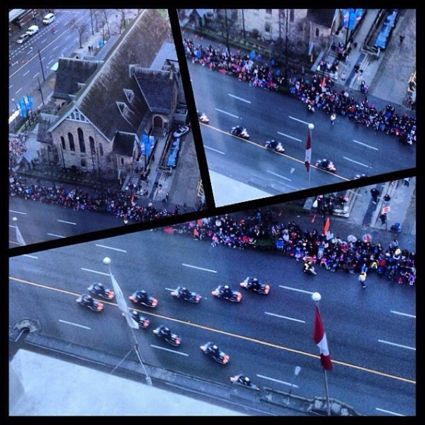 The famous #Santa #Parade is about to start. #Vancouver - from Instagram