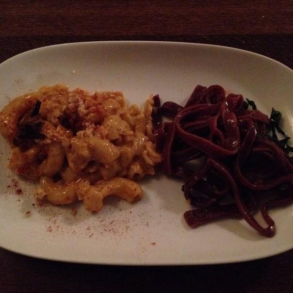 3rd stop of #noodlemaniayvr is @grazevegetarian - brown rice #macaroni #beetroot #linguine #vegetarian #vegan - from Instagram
