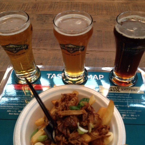 Tasting Island #Lager, the famous #Hefeweizen and #AuldSkool with pork #Poutine @itsgoodtobehere #vfpalate - from Instagram