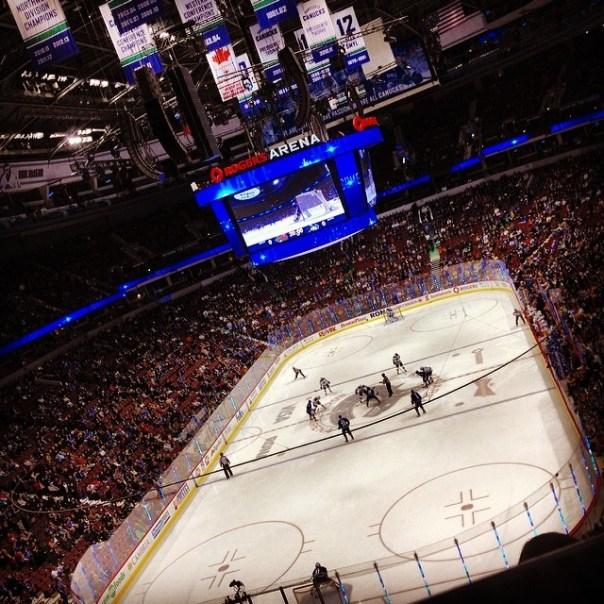 Friday hockey night! #GoVanucksGo! Vancouver vs. Minnesota - from Instagram