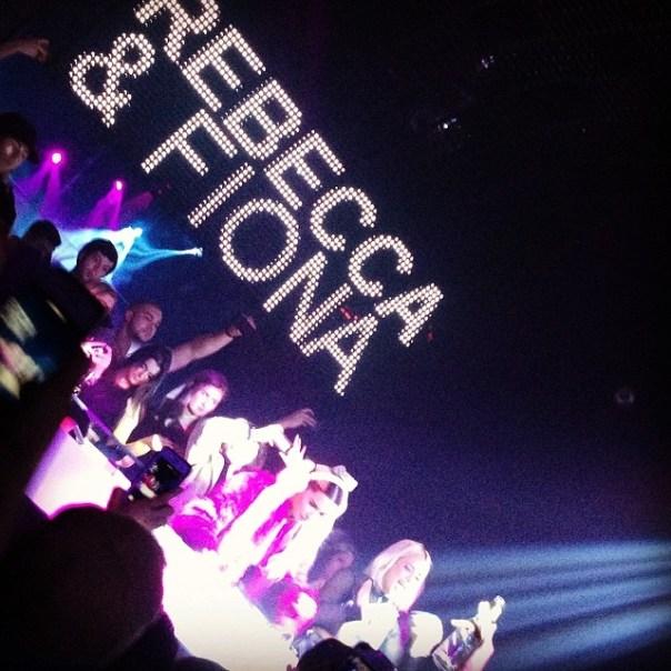 Rebecca & Fiona performing @Celebrities_Van - from Instagram