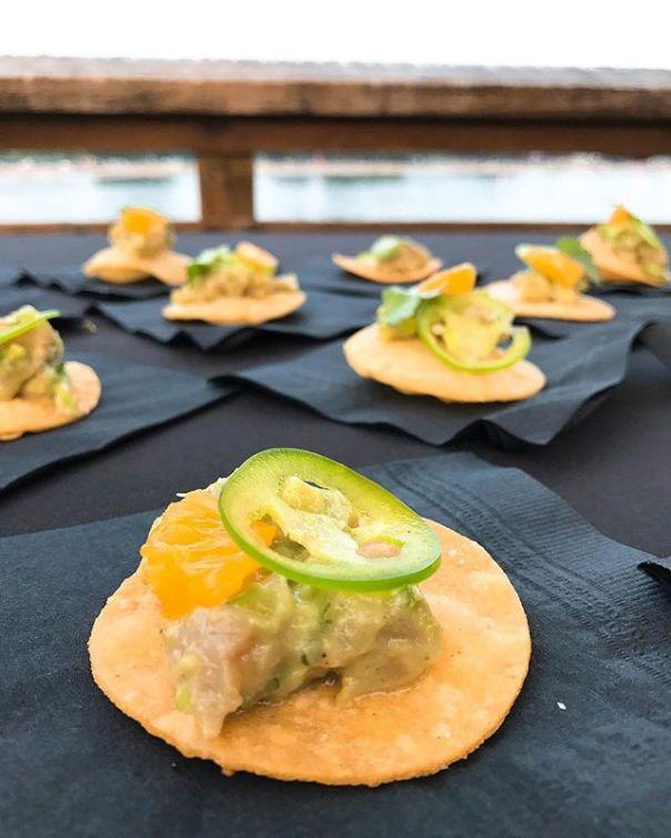 Tuna, avocado & orange #tostada @harmonyarts #Mixology Night On The Pier - from Instagram