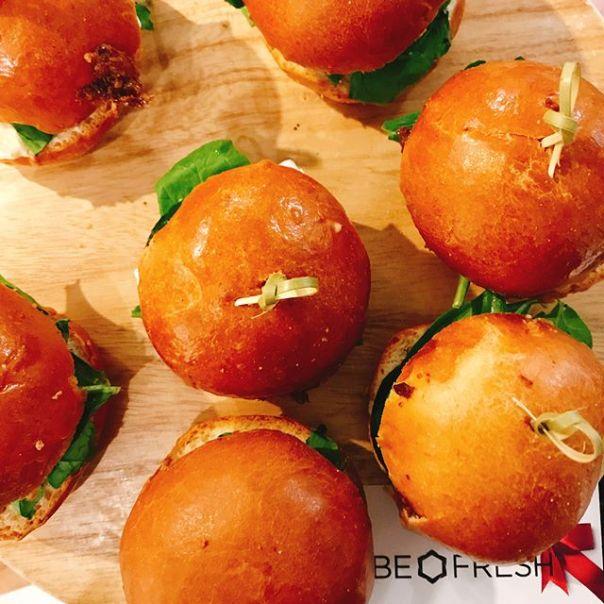 Savoury #slider & Edamame Jalapeño #Crostini #holidaymarketyvr - A Night of Tasting @befresh catering @befreshlocal #kitsilano #vancouver - from Instagram