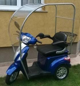 tricicleta electrica zt-15 cu plexigras