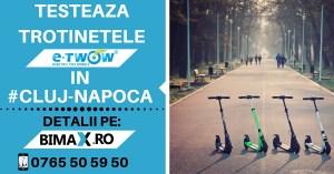 TESTEAZA TROTINETELE E-TWOW IN CLUJ NAPOCA