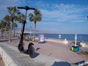 paseu plaja roquetas de mar e-twow