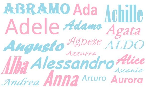 I Nomi Per I Bambini Origine Significato E Onomastico Lettera A