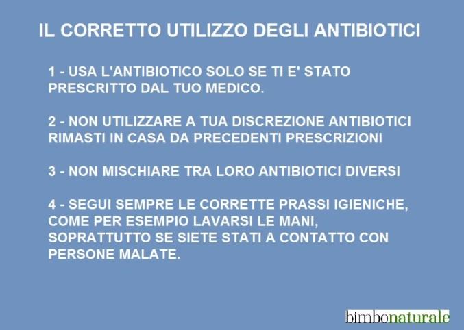 usare gli antibiotici in modo corretto