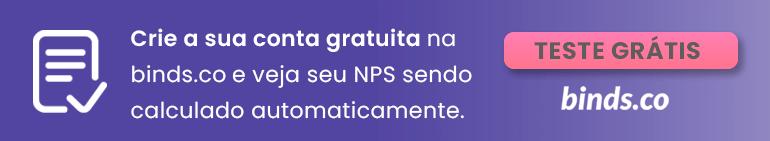 """Banner roxo contendo o texto: """"Crie sua conta gratuita na binds.co"""""""